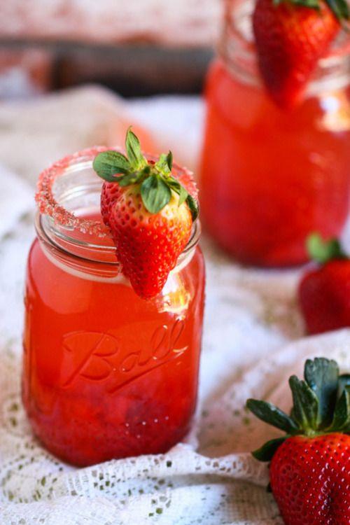anniversaire fraise- mason jar