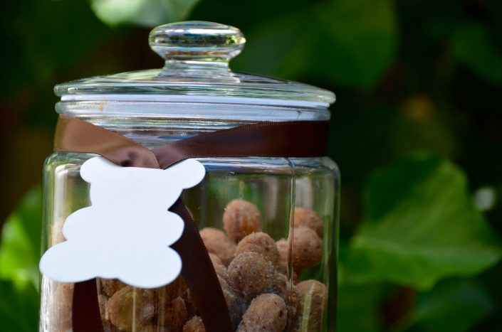 baby shower petit ours - cacahuètes pralinées