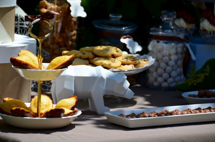 baby shower petit ours - madeleines chocolat