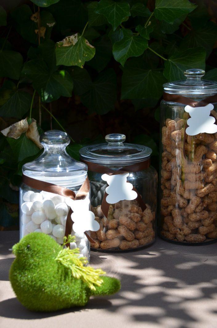 baby shower petit ours - bonbons caramel