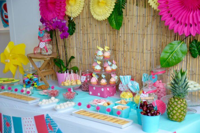candy bar thème été tropical