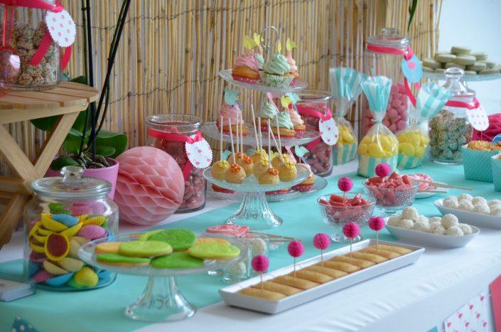 sweet table thème été tropical
