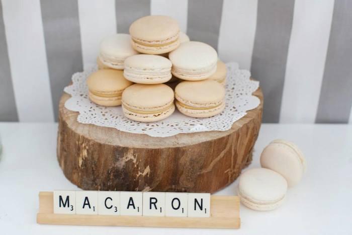 Mariage vintage - macarons vanille et café