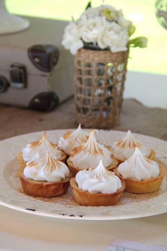 Mariage vintage - mini tartelettes citron meringué