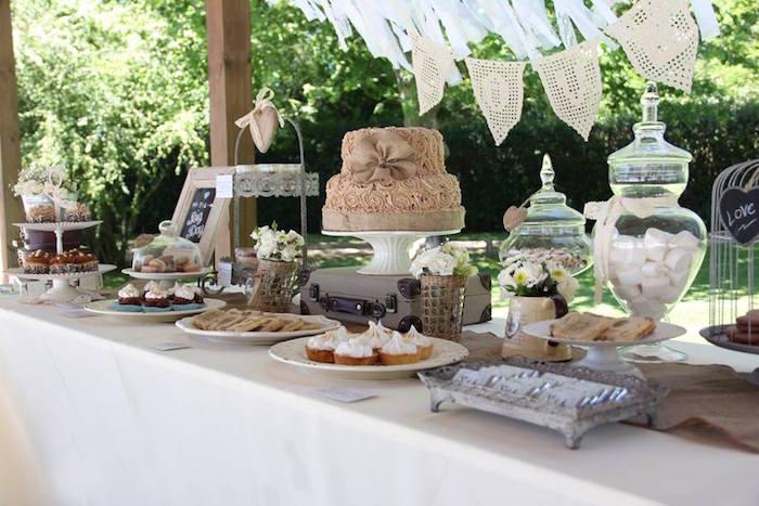 Mariage vintage - sweet table