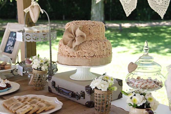 Mariage vintage - gâteau