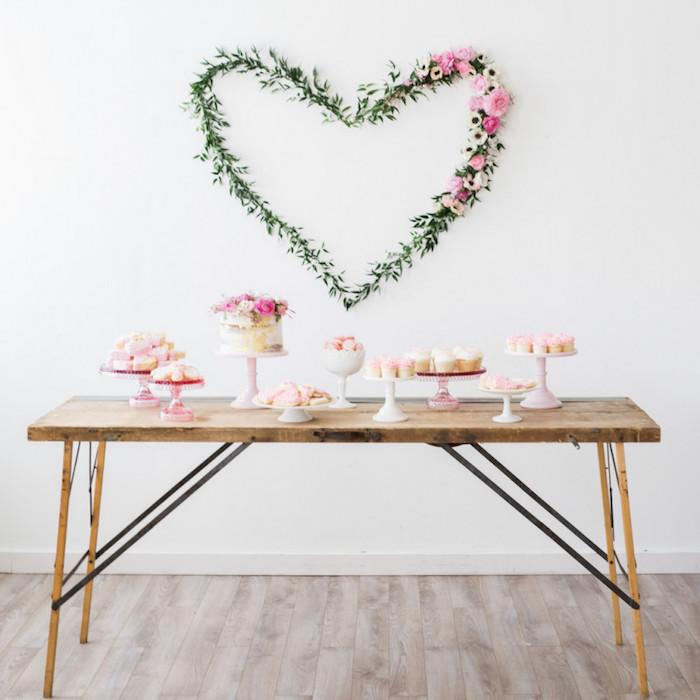Baby Shower fille - Sweet table sobre mais florale et gaie