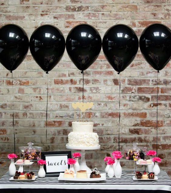 Anniversaire 30 ans en black & pink