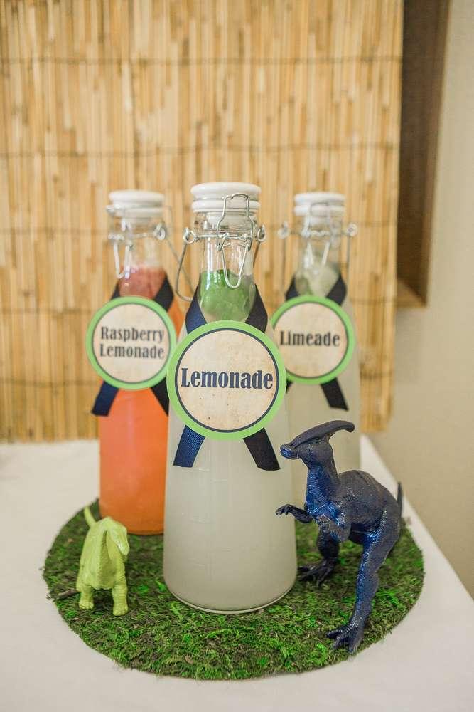 Anniversaire dinosaures - Limonade
