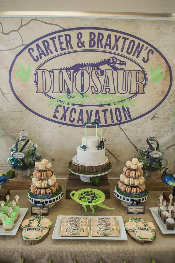 Anniversaire dinosaures - Sweet table
