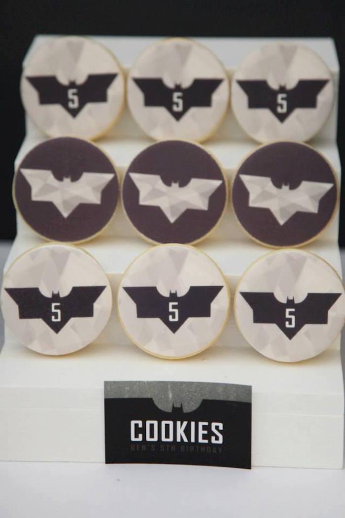 Anniversaire Batman en noir et blanc - Cookies Batman