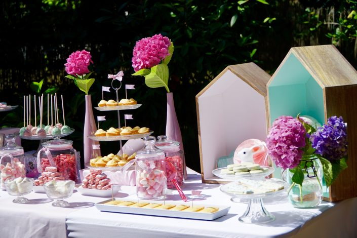 sweet table en rose pastel