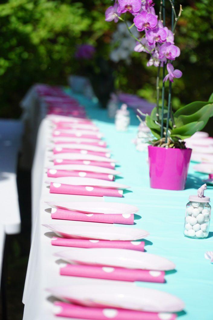 Anniversaire 1 an Chiara - Table de banquet dressée
