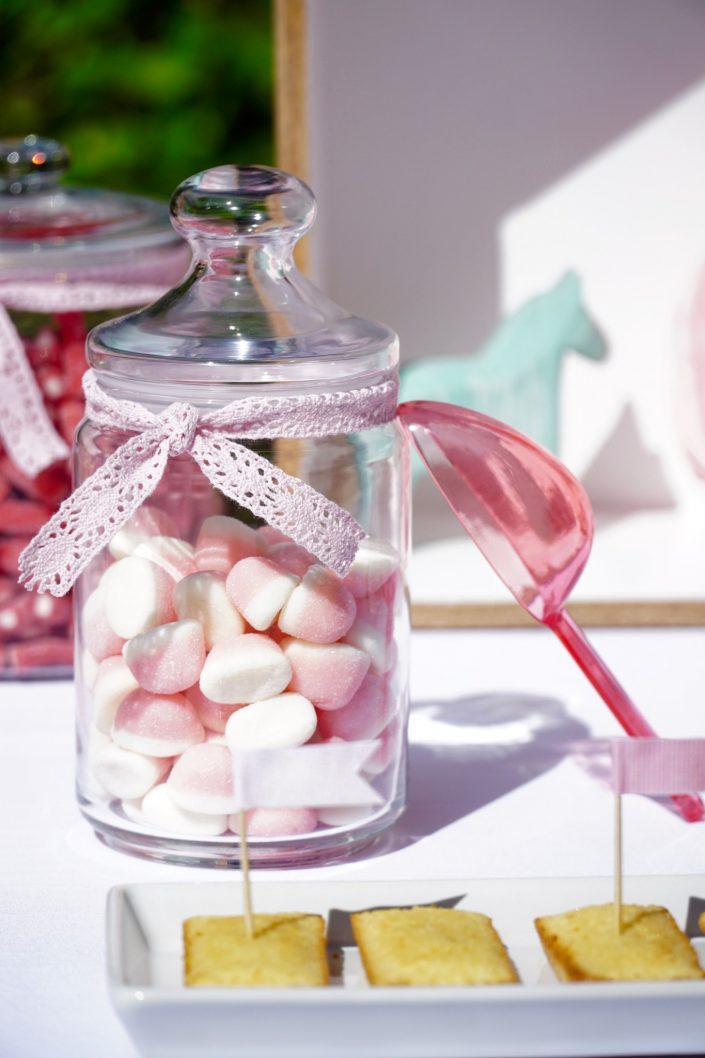 Bonbons rose et blanc