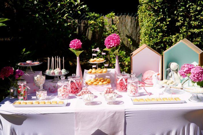 Candy bar en rose pastel