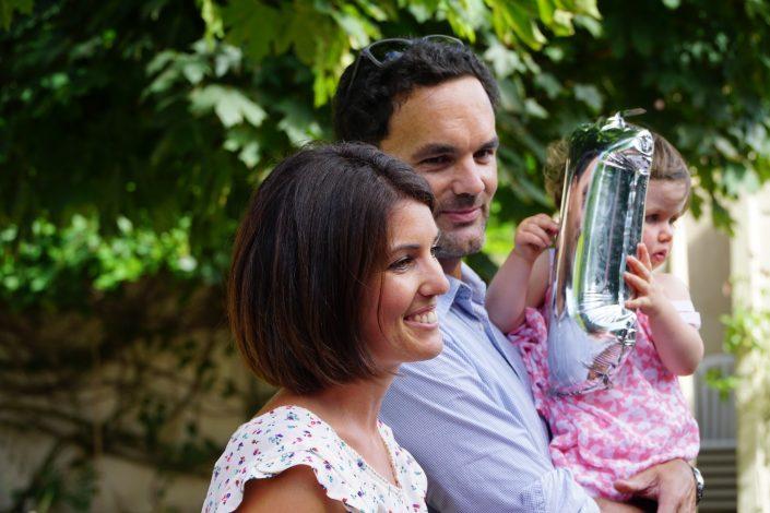 Anniversaire 1 an Chiara - Chiara et ses parents