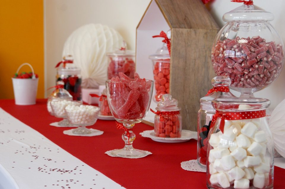 Candy Bar en rouge & blanc