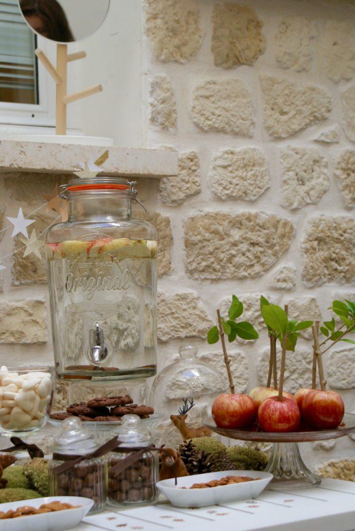 Mini sweet table automne - fontaine a boisson