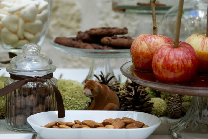 Mini sweet table automne - petit ours