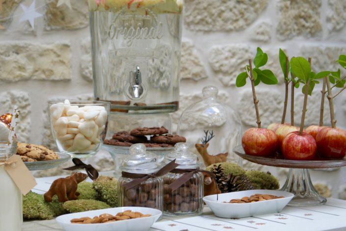 Mini sweet table automne - pommes au caramel et beurre salé