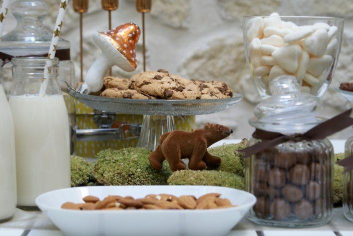 Mini sweet table automne - un tous marche sur la mousse