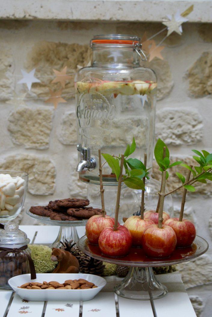 Mini sweet table automne - pommes au caramel au beurre salé