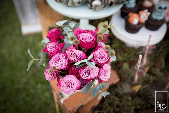 Dans les bois - Bouquet de fleurs fuchsia