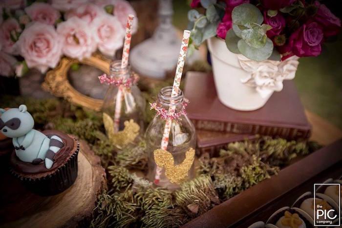 Dans les bois - Bouteilles décorées