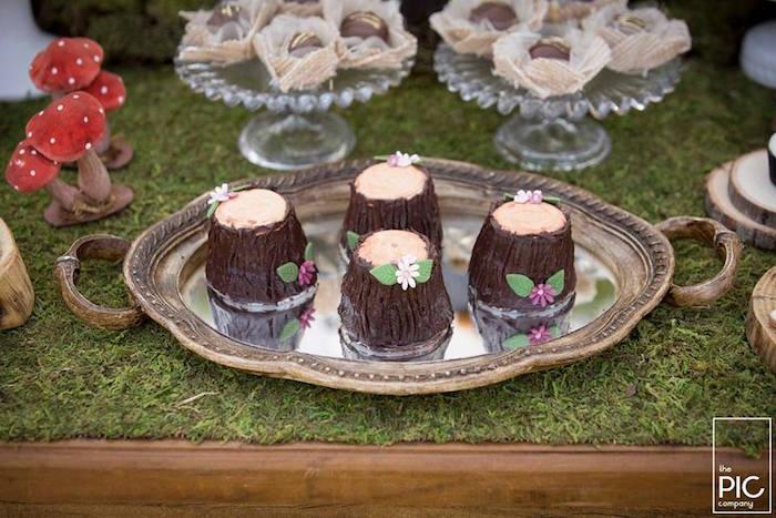 Dans les bois - Petits gâteaux individuels
