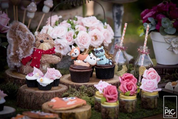 Dans les bois - Cupcakes petits animaux