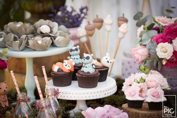 Dans les bois - Cupcakes animaux