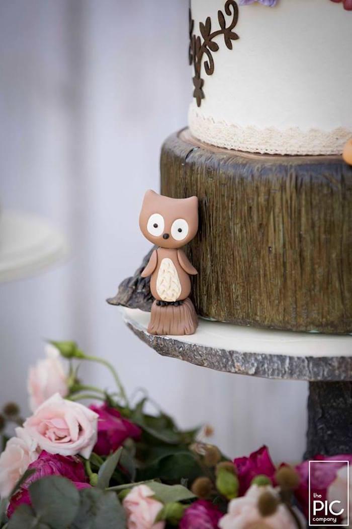 Dans les bois - Décoration de gâteau renard