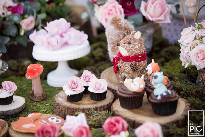 Dans les bois - Petits cupcakes à la rose