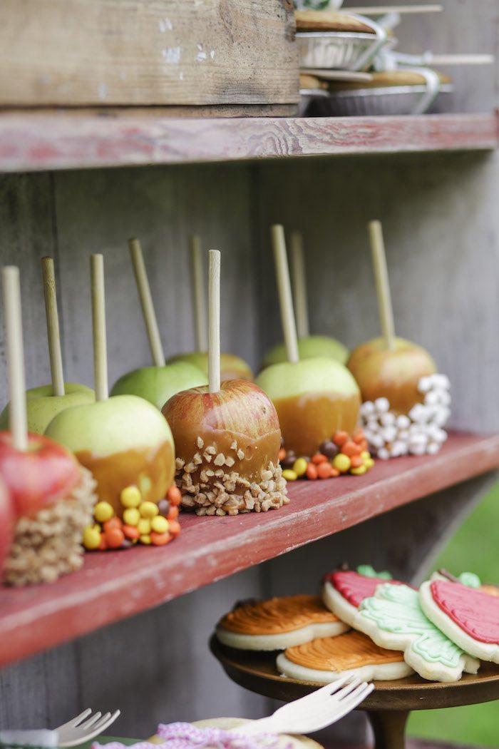 Goûter à la pomme - Pommes d'amour home made