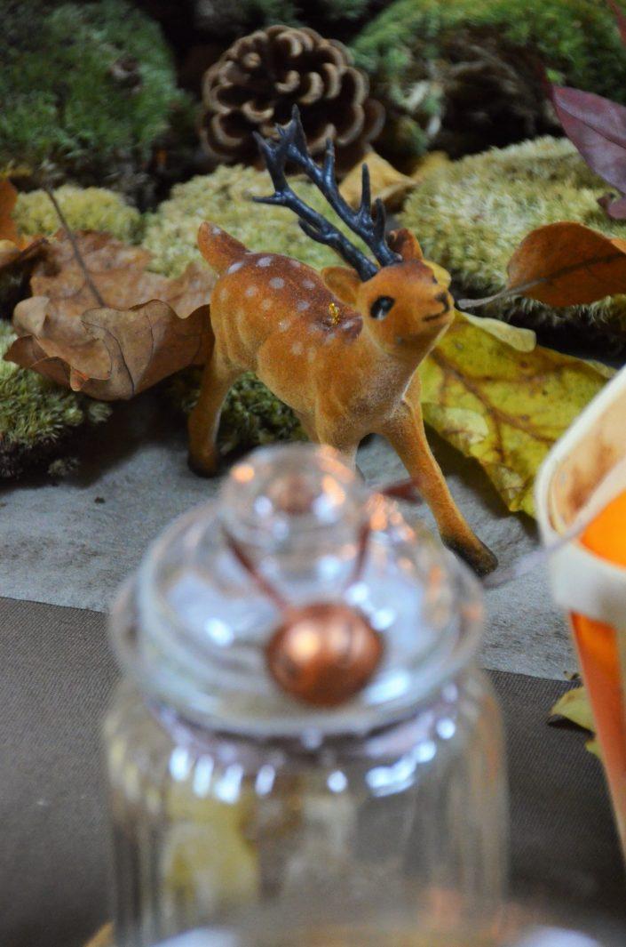 Table d'automne chez Pierre et Vacances par Studio Candy - Petite biche entre les bonbonnières