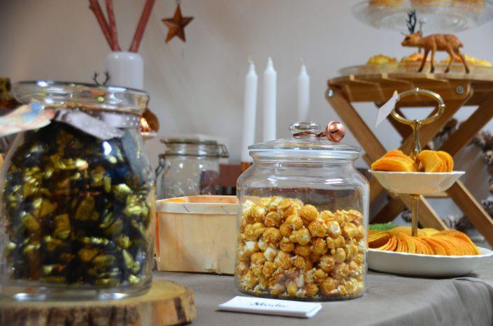 Table d'automne chez Pierre et Vacances par Studio Candy - Popcorn dans une bonbonnière