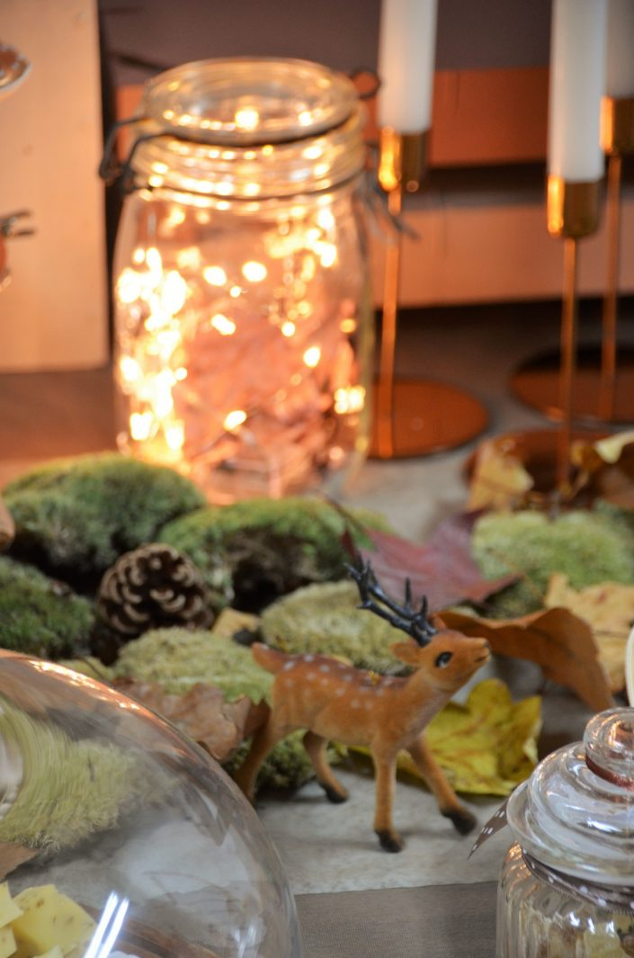 Table d'automne chez Pierre et Vacances par Studio Candy - Guirlande lumineuse