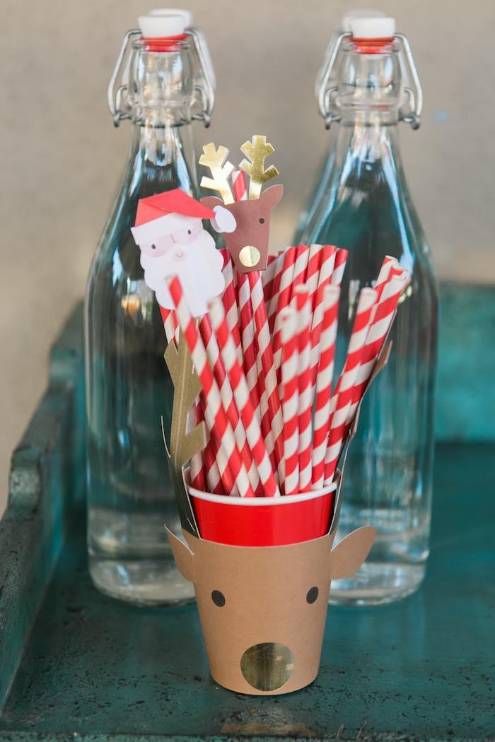 Atelier de Noël par Studio Candy - Pailles rétro rouges