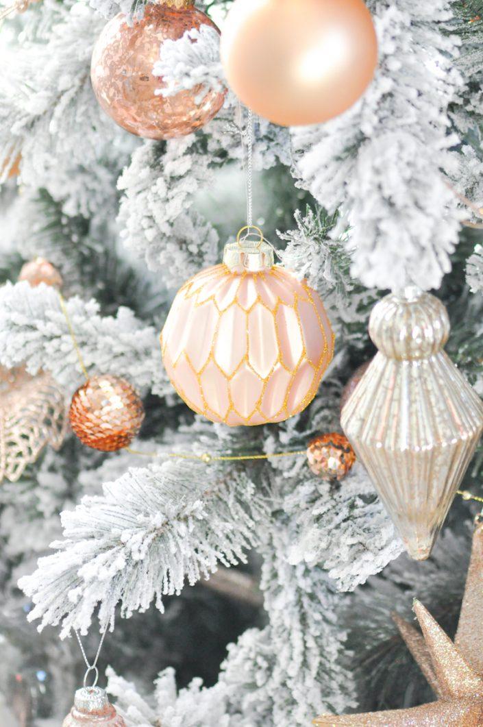 Noël rose pastel - Boule