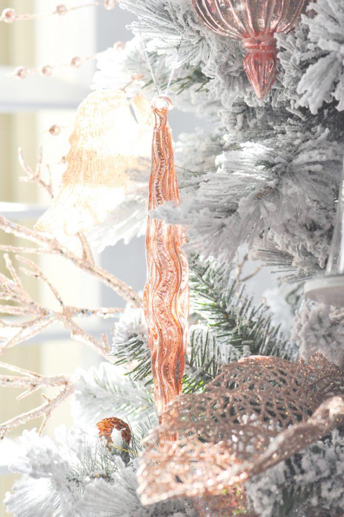 Noël rose pastel - Décoration du sapin