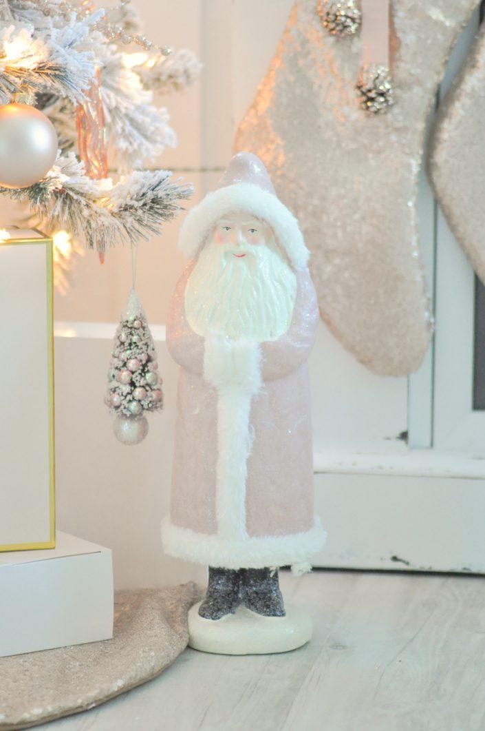 Noël rose pastel - Père Noël rose
