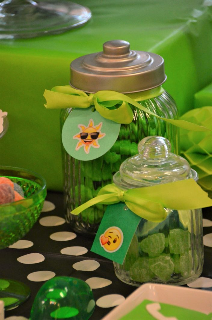 Bonbons verts avec bonbonnières - Studio Candy