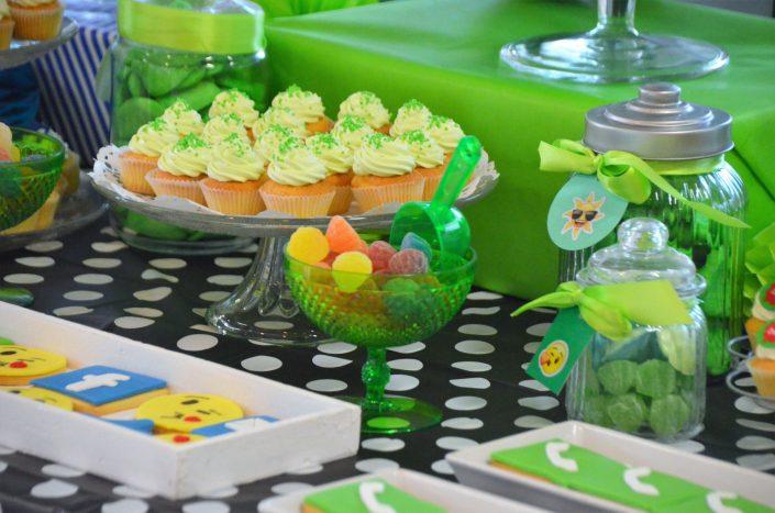 Cupcakes verts et bonbonnières - Studio Candy
