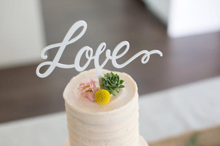 Brunch entre filles par Studio Candy - Cake topper love