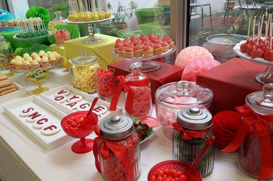 Candy Bar coloré pour Voyages SNCF