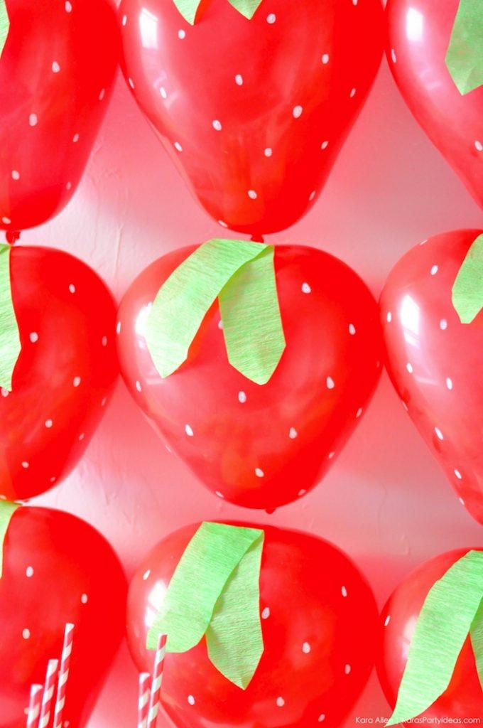 Saint valentin à la fraise - Studio Candy - Ballons fraise