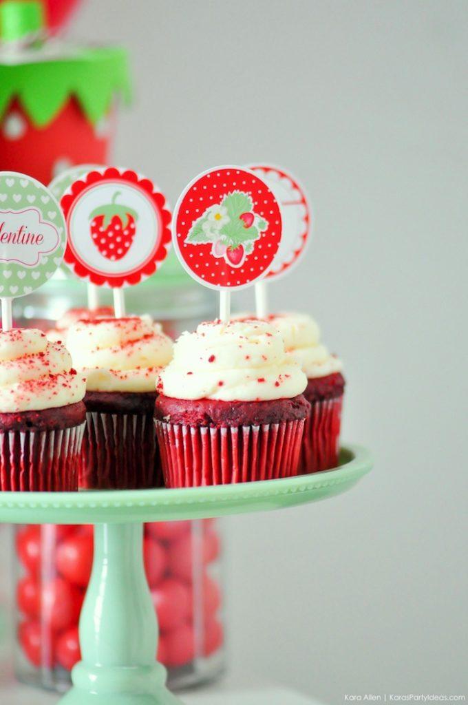Saint valentin à la fraise - Studio Candy - Cupcakes
