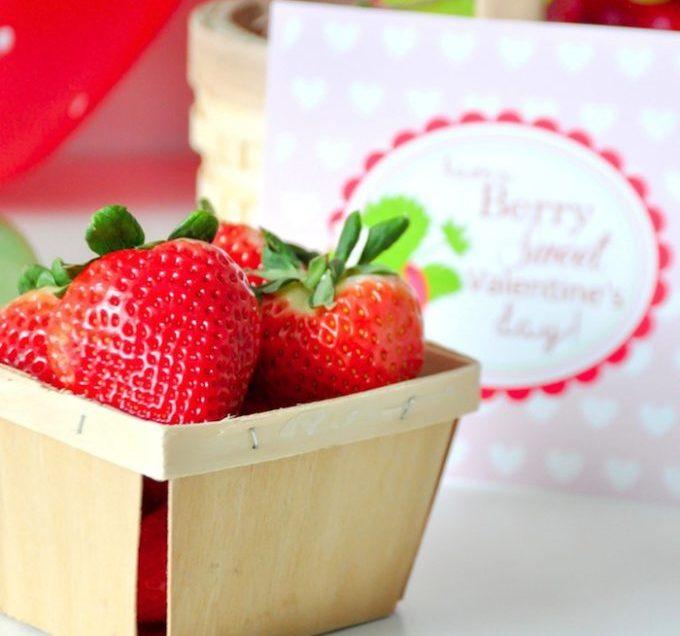 Une Saint Valentin à la fraise