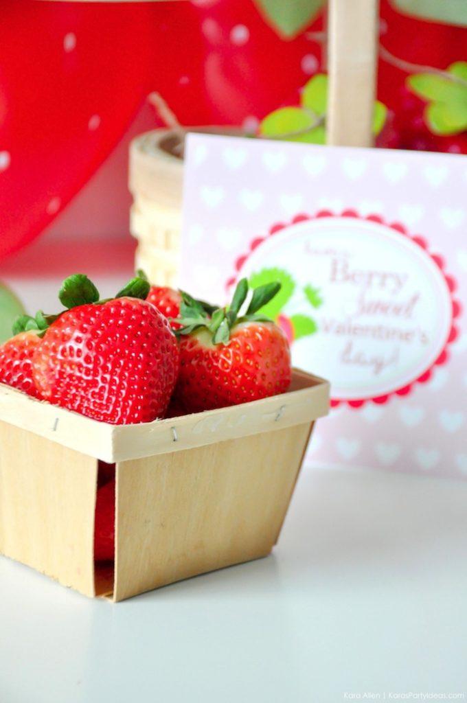 Saint valentin à la fraise - Studio Candy - Panier de fraises