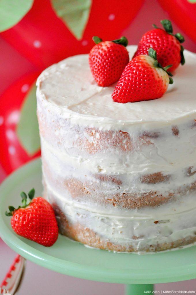 Saint valentin à la fraise - Studio Candy - Nacked cake à la fraise